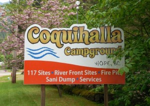 Coquihalla Campground sign